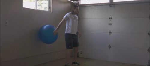 Exercise 101: Stability Ball Posterior Shoulder Stabilization with Shrug