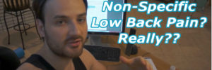What is Non-Specific Low Back Pain and Why I Believe it Does Not Exist!